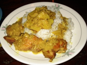 Kiwi chicke curry