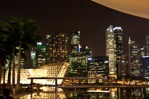 Skyline at Marina Bay-Singapore