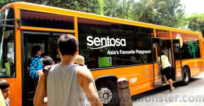 Easy to get around with the Sentosa Bus