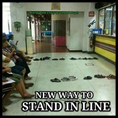 falling in line