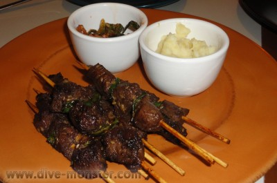 Korean BBQ Sticks at Captain Ribbers