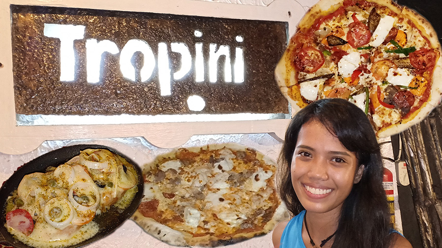 Tropini Pizza at Why Not Dumaguete