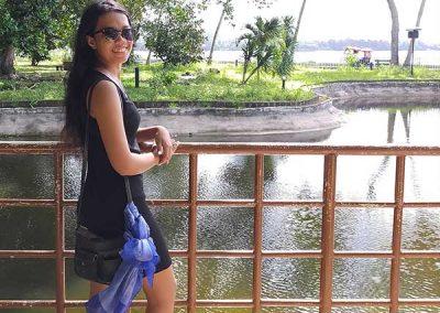 Dapitan Trip - Rizal Shrine - Daisy near a Pond