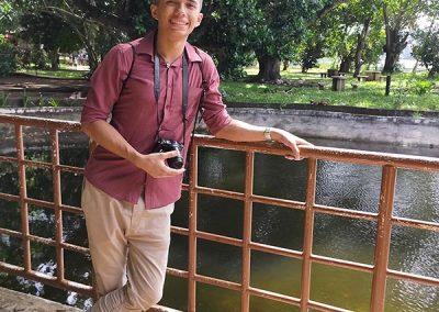 Dapitan Trip - Rizal Shrine - Tim near a Pond