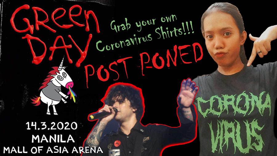 Green Day 2020 Tour & Concert in Manila – POSTPONED