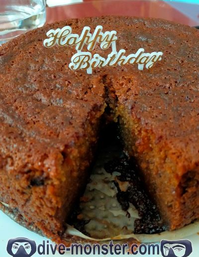 Birthday Cake - homebacked cake